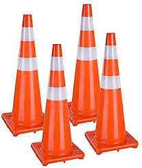 """Yescom 36"""" Traffic Cones Reflective Safety Cones Fluorescent ..."""
